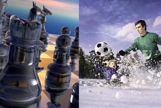 Шахматы и Зимний футбол